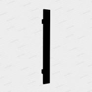 dveřní madlo Design inox 919 černé - 400/230 mm