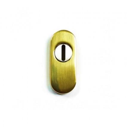 mosazné bezpečnostní rozety oválne 195 Safe - mosaz lesk 15 mm