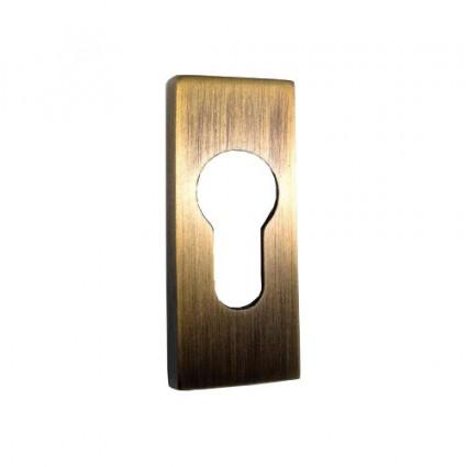 mosazné bezpečnostní rozety hranaté 191 - česaný bronz 10 mm