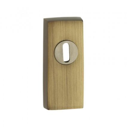 mosazné bezpečnostní rozety hranaté 191 Safe - česaný bronz 15 mm