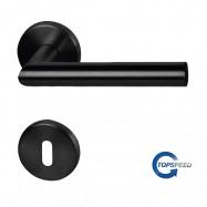 objektové kování Ronny II - R černá matná - nerez (ušlechtilá ocel) - 3. třída použití (200.000 cyklů)