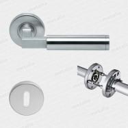 objektové kování Bauhaus R M15 - nerez (ušlechtilá ocel matná) - třída použití 3 (200.000 cyklů)
