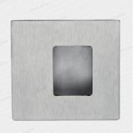 mušle 01024 M15 110x110 mm asymetrická - nerez matný (nerez)