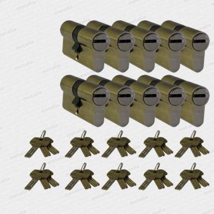 bezpečnostní cylindrická vložka DOM ix-10 - 10x SU