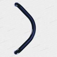 dveřní madlo Design alu 2902 Romana F6 černé- ø 30mm rozteč 300 mm (pár)