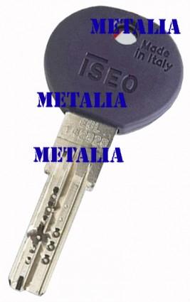 klíč ISEO R7 - originální bezpečnostní klíč ISEO R7